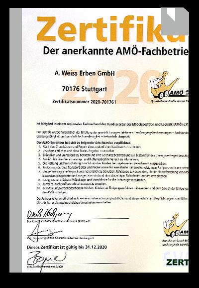 anerkannter AMÖ Fachbetrieb